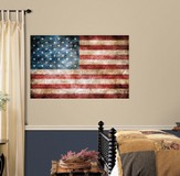 Vintage American Flag, Vinyl Wall Sticker