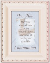 First Communion Framed Plaque, May You Always Know the Joy