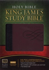 The King James Study Bible - LeatherSoft/Black/Burgundy - Slightly Imperfect