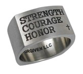 Strength, Courage, Honor Ring, Size 9