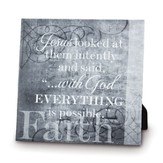 Faith, With God, Everything Is Possible Canvas Print
