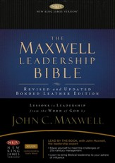 NKJV Maxwell Leadership Bible, Briefcase Edition, Coffee - Imperfectly Imprinted Bibles