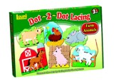 Dot-2-Dot ™ Lacing Farm Animals