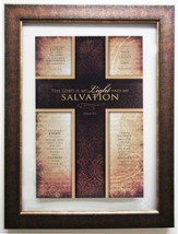 Salvation Psalm 27:1, Wall Art Framed Cross