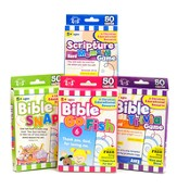 Bible Flash Card 4 Pack (Bible Trivia, Scripture  Memory, Bible Snap, Bible Go Fish)