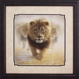 The Wicked Flee, Lion Framed Art