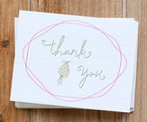 Faith Floral Thank You Notes, Pack of 10 - Slightly Imperfect