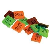 Singapore Math Place Value Decimal Tiles (90 Tiles)