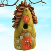 Felt Birdhouse Forest House, Fair Trade Product