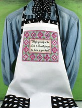 Delight Yourself in the Lord Apron, Pink and White