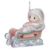 Baby's First Christmas 2015 Ornament, Pink