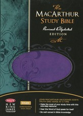 NKJV MacArthur Study Bible, Personal Size, Grape Leathersoft