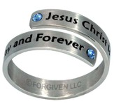 Jesus Christ Forever Split Ring, Size 8