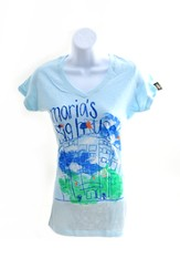 Maria's Big House Shirt, Blue, Junior Small