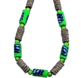 Three Crosses Beaded Necklace, Green