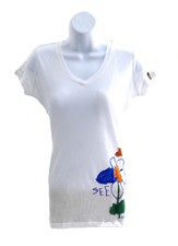 Maria's Flower Shirt, White, Junior, Small