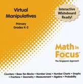 Math in Focus: The Singapore Approach Primary Virtual Manipulatives CD-Rom (Grades K-2)