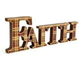 Faith Plaid Word Hanging