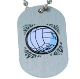 Volleyball Tag Pendant