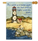 Thy Word is a Lamp Unto My Feet Flag, Large
