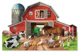 Busy Barn Shaped Floor Puzzle, 32 pieces