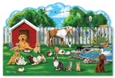 Pet Party Shaped Floor Puzzle, 32 pieces