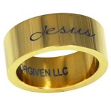 Jesus Ring, Gold, Size 8