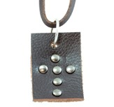 Studded Cross Tag Pendant