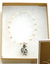 Prayer Box Cross Child Bracelet, April, Crystal