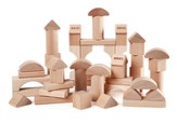50 Piece Natural Colored Block Set