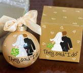 Bride and Groom, They Said I Do Ornament