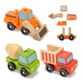 Stacking Construction Vehicles, Set of 3