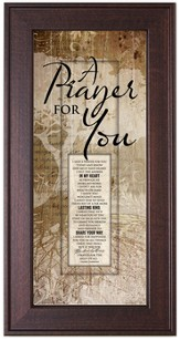 A Prayer For You Framed Art