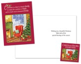Family, Home, Friends Christmas Card with Cookbook, Package of 18