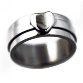 Heart Spinner Ring, Size 10