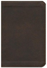 NKJV Compact Large Print Reference Bible, Imitation Leather, Earth Brown
