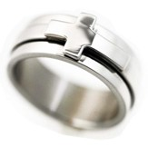 Cross Spinner Ring, Size 9