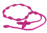 Prayer Bracelet, Cord, Hot Pink