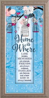 Home Is Where Love Resides Framed Art
