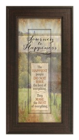 Journey To Happiness Framed Art