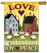 Love, Joy, Peace Flag, Large
