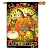 Harvest Blessings Flag, Large