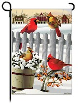 Winter Cardinals Flag, Small