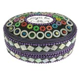 Prayer Box, Oval, Purple