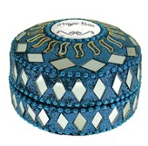 Prayer Box, Round, Blue