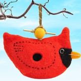 Felt Birdhouse Cardinal, Fair Trade Product