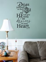 Vinyl Wall Expression, Delight Yourself in the Lord