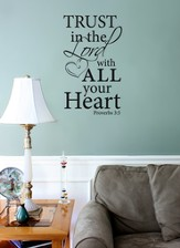 Vinyl Wall Expression, Trust the Lord with All Your Heart