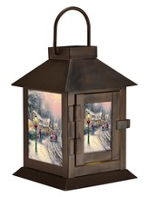 Thomas Kinkade, Village Christmas LED Coach Lantern