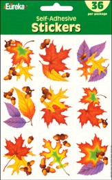 Scripture Press Primary Fall Leaves Stickers, Fall 2014